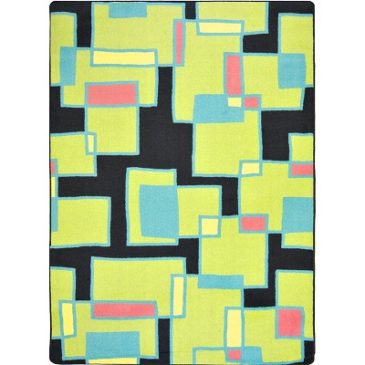 Kid Essentials - Teen Outside the Box Tropical Area Rug by Joy Carpets