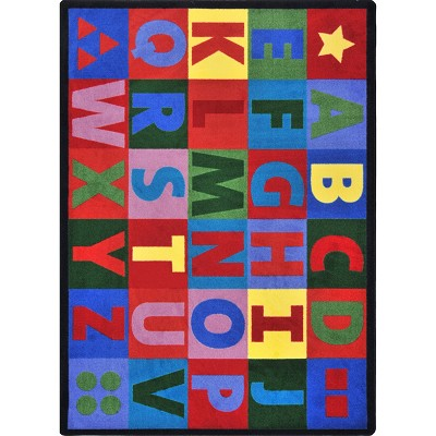 Kid Essentials - Early Childhood Oversize Alphabet Multi Area Rug by Joy Carpets