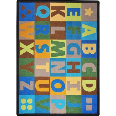 Kid Essentials - Early Childhood Oversize Alphabet Earthtone Area Rug by Joy Carpets