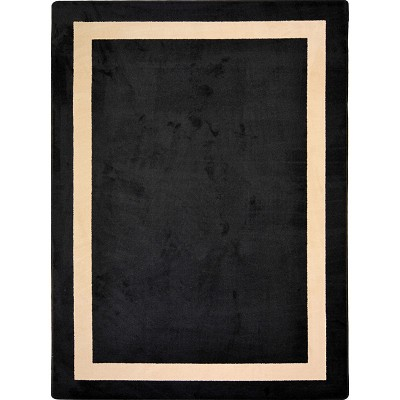 Kid Essentials - Solid Color Portrait Onyx Area Rug by Joy Carpets