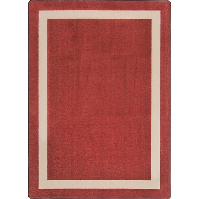 Kid Essentials - Solid Color Portrait Wine Area Rug by Joy Carpets