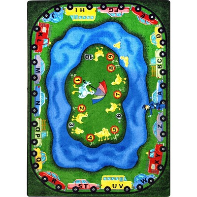 Kid Essentials - Early Childhood Puddleducks Multi Area Rug by Joy Carpets
