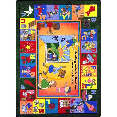Kid Essentials - Language & Literacy Read & Rhyme Multi Area Rug by Joy Carpets