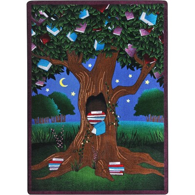 Kid Essentials - Language & Literacy Reading Tree Multi Area Rug by Joy Carpets