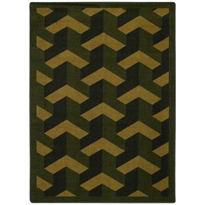 Kaleidoscope Rooftop Olive Area Rug by Joy Carpets