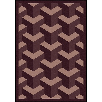 Kaleidoscope Rooftop Plum Area Rug by Joy Carpets