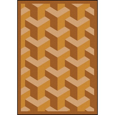Kaleidoscope Rooftop Wheat Area Rug by Joy Carpets