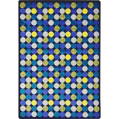 Kid Essentials - Teen Roundabout Blue Area Rug by Joy Carpets