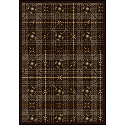 Games People Play Saint Andrews Bark Brown Area Rug by Joy Carpets