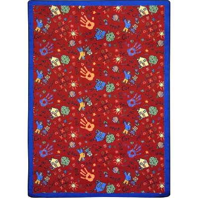 Playful Patterns Scribbles Red Area Rug by Joy Carpets