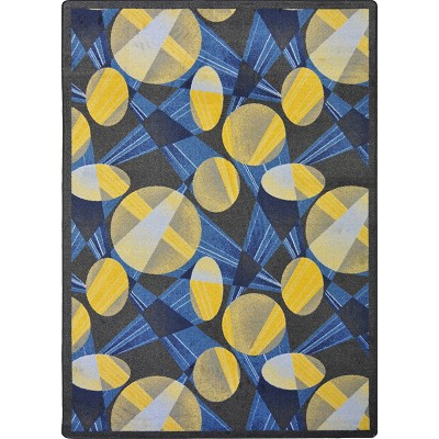 Any Day Matinee Searchlight Navy Area Rug by Joy Carpets