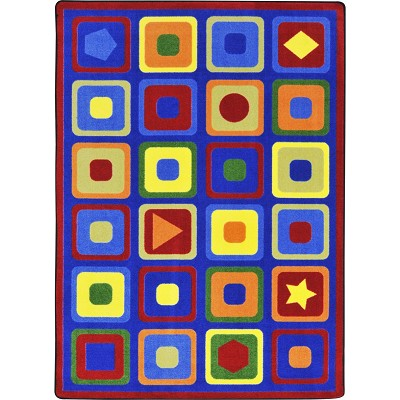 Kid Essentials - Early Childhood Seeking Shapes Multi Area Rug by Joy Carpets