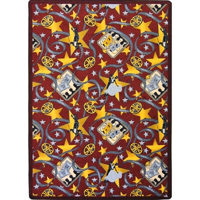 Any Day Matinee Silver Screen Burgundy Area Rug by Joy Carpets
