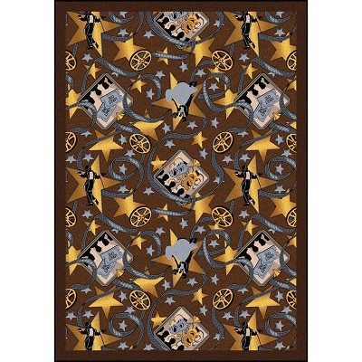 Any Day Matinee Silver Screen Chocolate Area Rug by Joy Carpets