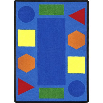 Kid Essentials - Early Childhood Sitting Shapes Multi Area Rug by Joy Carpets