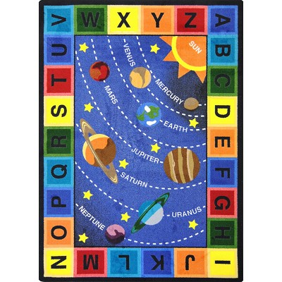 Kid Essentials - Geography & Environment Space Alphabet Multi Area Rug by Joy Carpets