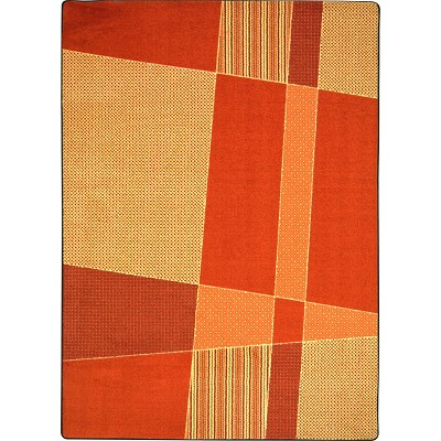 Kid Essentials - Teen Spazz Orange Area Rug by Joy Carpets