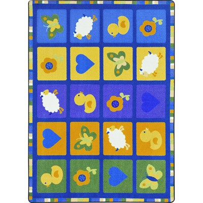 Kid Essentials - Infants & Toddlers Spring Things Multi Area Rug by Joy Carpets