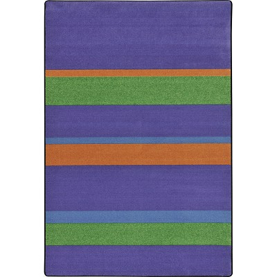 Kid Essentials - Teen Straight and Narrow Violet Area Rug by Joy Carpets