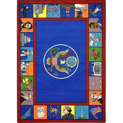 Kid Essentials - Early Childhood Symbols of America Multi Area Rug by Joy Carpets