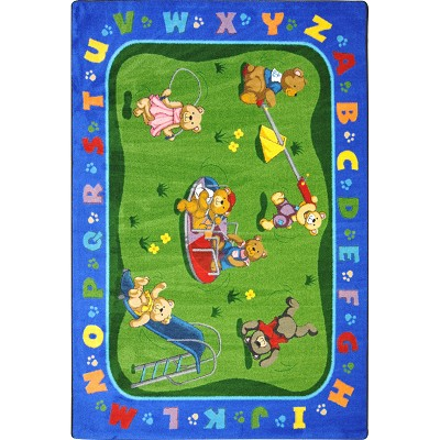 Kid Essentials - Early Childhood Teddy Bear Playground Multi Area Rug by Joy Carpets