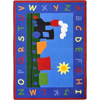 Kid Essentials - Infants & Toddlers Tiny Train Multi Area Rug by Joy Carpets