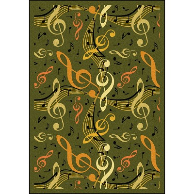 Kid Essentials - Music & Special Needs Virtuoso Green Area Rug by Joy Carpets