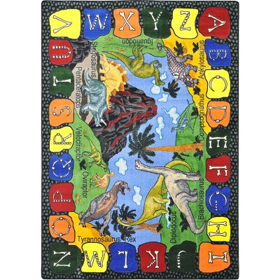 Kid Essentials - Early Childhood We Dig Dinosaurs Multi Area Rug by Joy Carpets