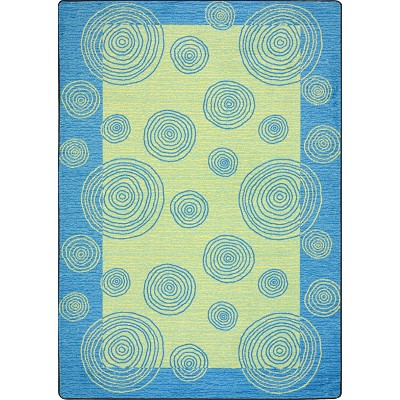 Kid Essentials - Teen Whimzi Teal Area Rug by Joy Carpets