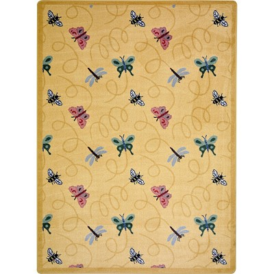 Kaleidoscope Wing Dings Gold Area Rug by Joy Carpets