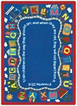 Kid Essentials - Inspirational Bible Train Multi Area Rug by Joy Carpets