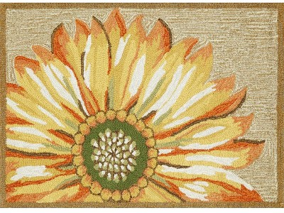 Liora Manne Frontporch 1417/09 Sunflower Yellow Area Rug