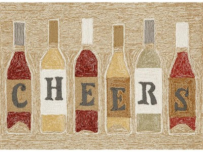 Liora Manne Frontporch 1434/37 Cheers Rose Area Rug