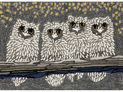 Liora Manne Frontporch 1443/47 Owls Night Area Rug