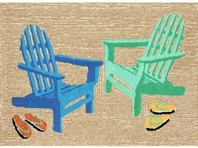 Liora Manne Frontporch 1466/04 Adirondack Seaside Area Rug