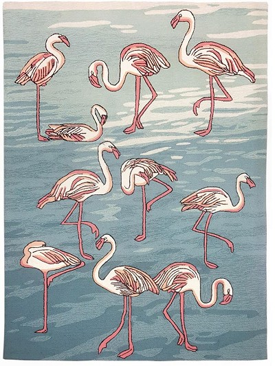 Liora Manne Frontporch 1899/03 Flamingo Water Area Rug