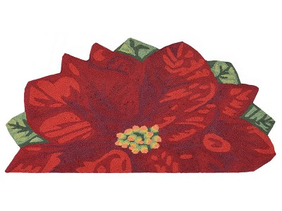 Liora Manne Frontporch 2411/24 Poinsettia Red Area Rug