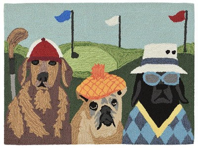 Liora Manne Frontporch 2418/44 Putts & Mutts Multi Area Rug
