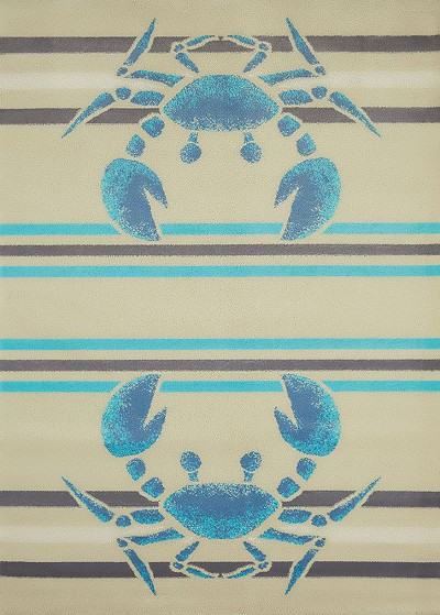 United Weavers Regional Concepts 541 51860 Crabbee Blue Area Rug