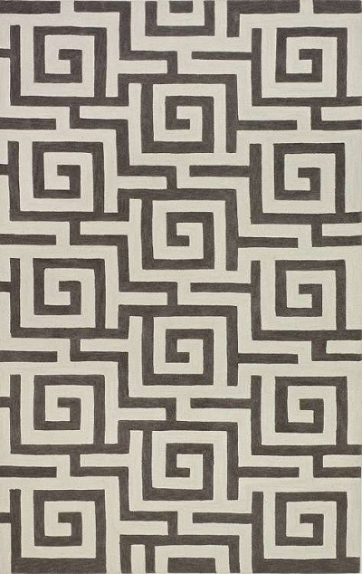 Infinity IF1 Pewter Area Rug by Dalyn