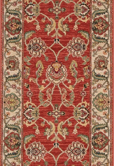 "Ashara Agra Red B549R 15002  2' 6"" (30"") Foot Wide Hall and Stair Runner"