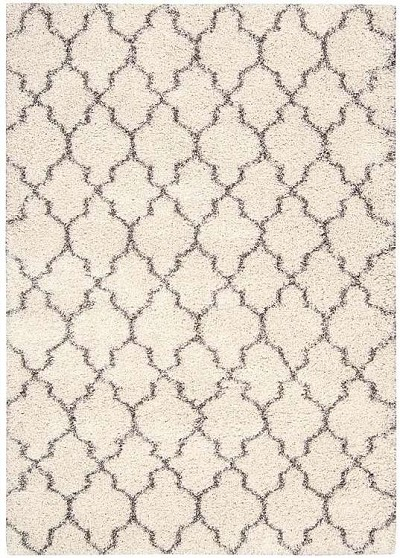 Amore Shag AMOR2 Cream Area Rug by Nourison