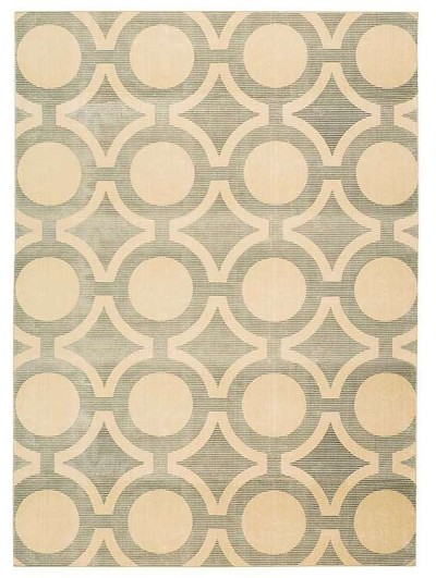 Luminance  LUM01 Cream/Grey Area Rug by Nourison