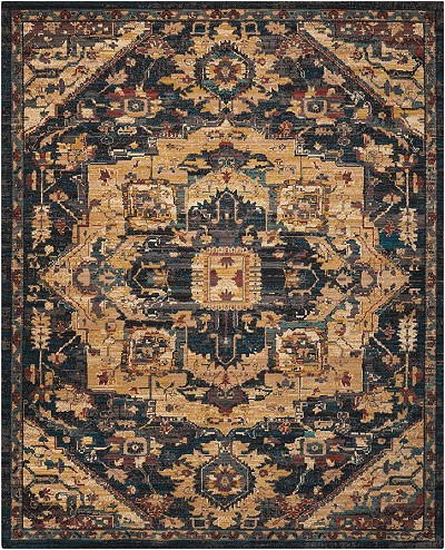 "Nourison 2020 NR206 Midnight 6'6"" X 9'5"" Area Rug - LAST ONE!"