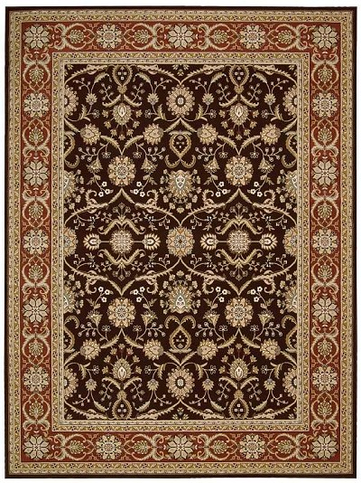 Persian Crown PC001 Dark Brown Area Rug by Nourison