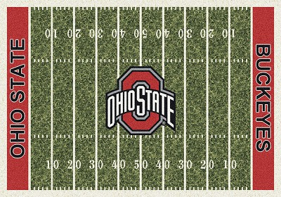 Milliken College Homefield 01000 Ohio State Team Area Rug