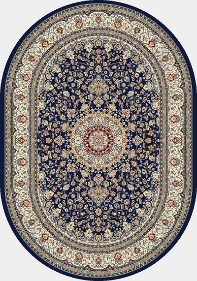 Ancient Garden 57119-3434 Blue/Ivory (34 Navy) Area Rug by Dynamic Rugs