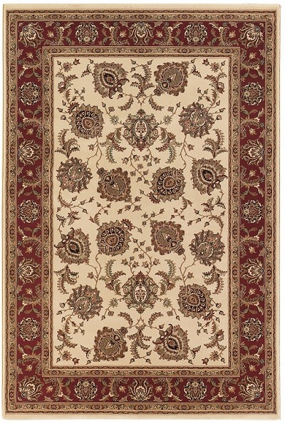 Ariana 117J Ivory/Red Area Rug by Oriental Weavers