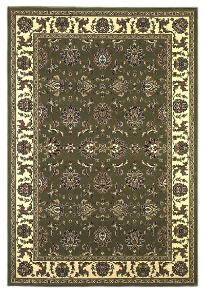 Cambridge Classic 7314 Green/Ivory Kashan Area Rug by KAS