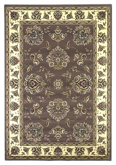 Cambridge Classic 7341 Plum/Ivory Floral Mahal Area Rug by KAS